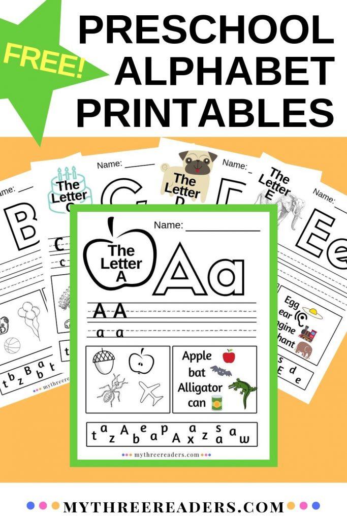 Free Preschool Printable Alphabet Worksheets A
