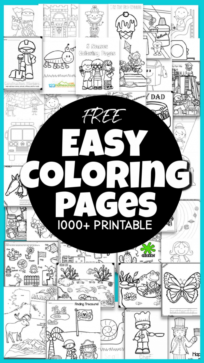 Free Free Printable Easy Coloring Pages Over Pages