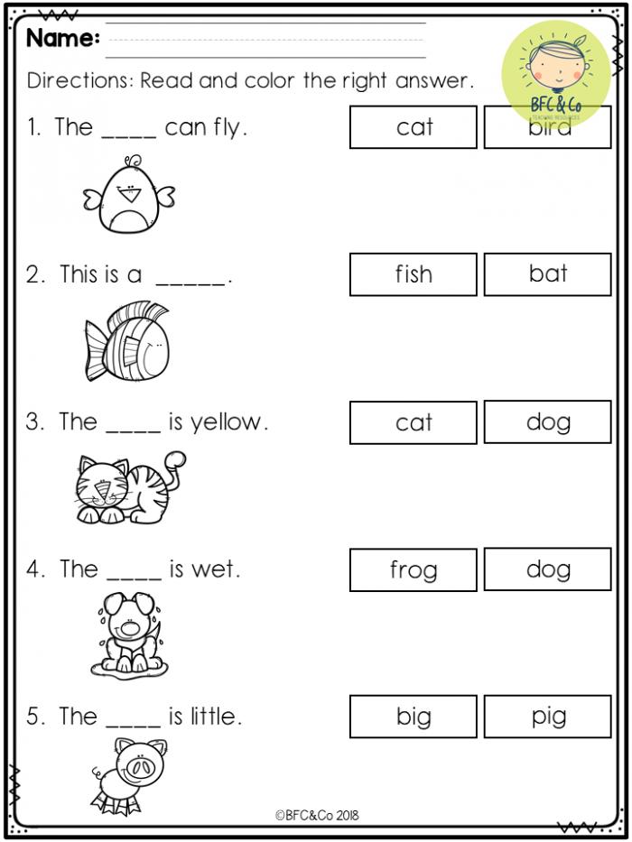 Free Kindergarten Read And Write