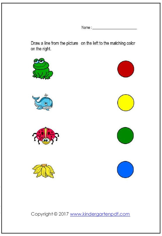 Free Nursery Worksheets Color Recognition Worksheets For Toddlers