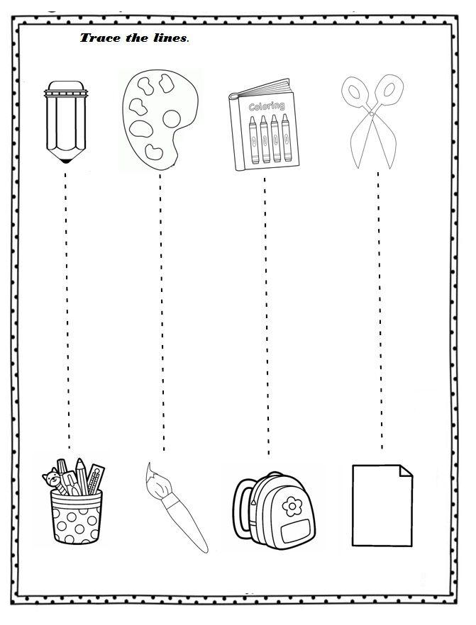 Free Printable Back To School Worksheet For Preschoolers Crafts