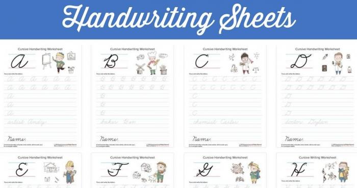 Free Printable Cursive Handwriting Sheets Southern Savers