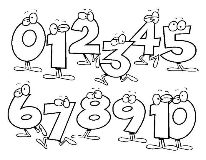 Free Printable Numbers Coloring Pages For Kids