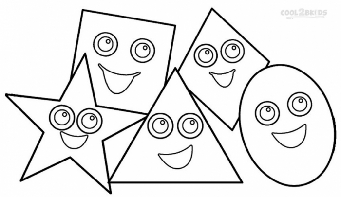 Free Printable Shapes Coloring Pages