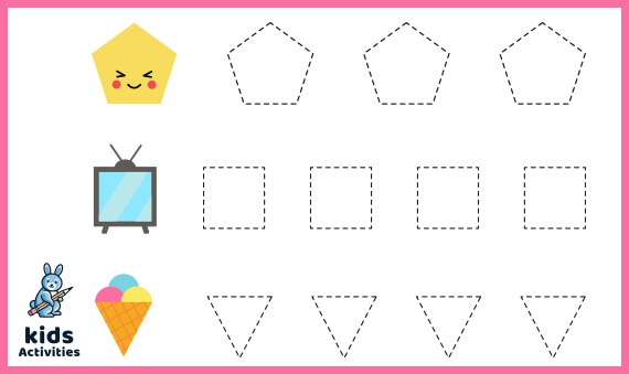 Free Printable Tracing Shapes Worksheets For Year Olds Kids