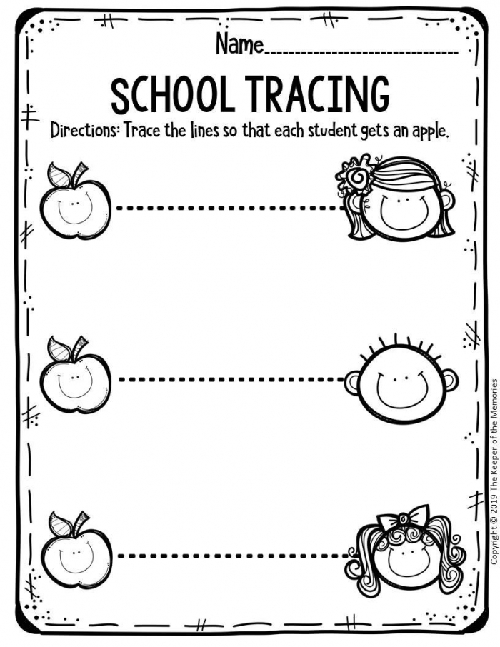 Free Printable Worksheets For Preschool Kindergarten