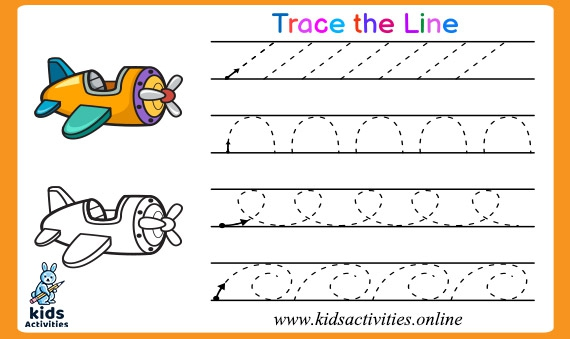 Free Tracing Lines Worksheets For Year Olds Kids Activities