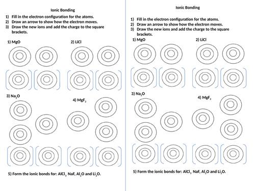 Gcse Chemistry Ionic Bonding Worksheet