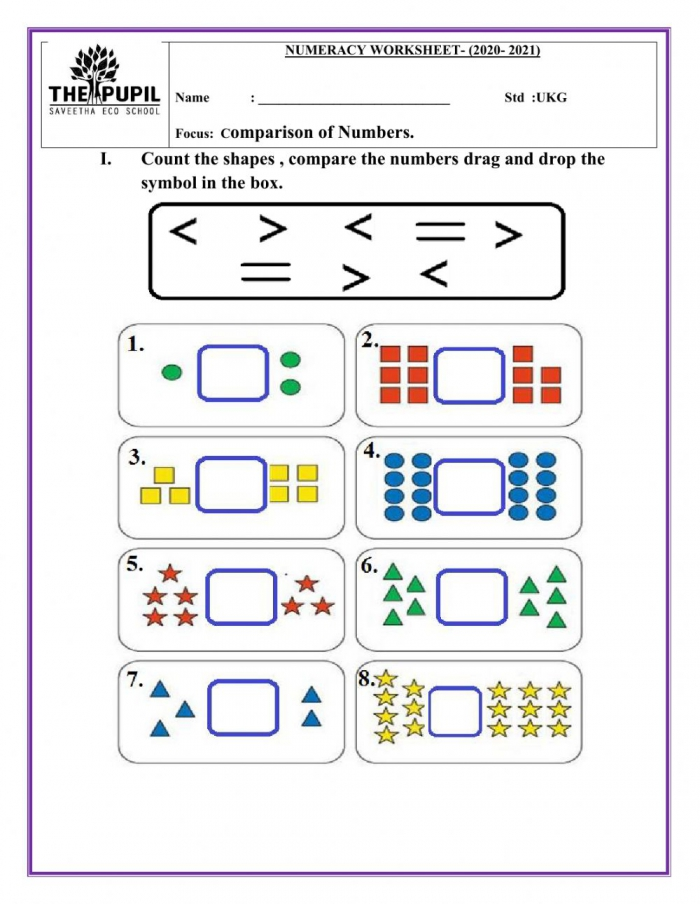Greater Than Less Than Interactive Worksheet