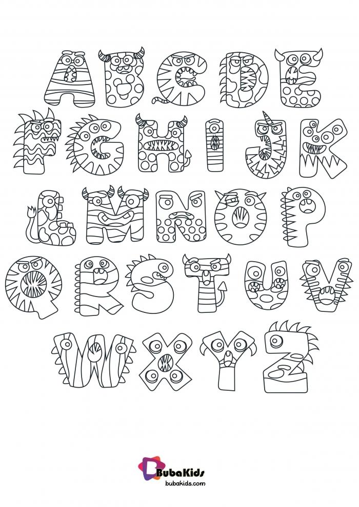 Halloween Preschool Alphabet Coloring Page Bubakidscom