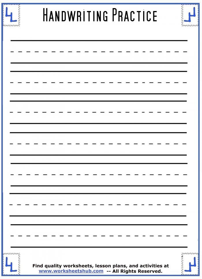 Handwriting Sheetsprintable