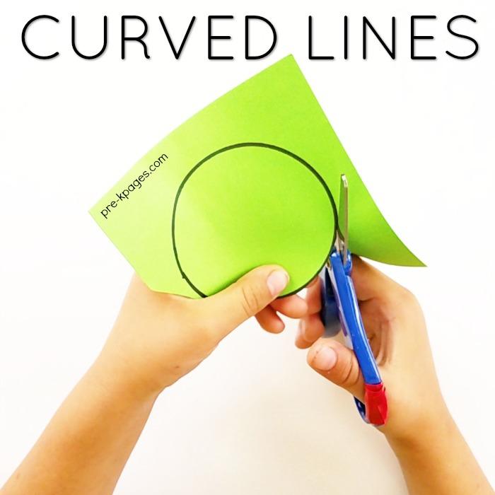 Scissor Skills – Cutting Curved Lines