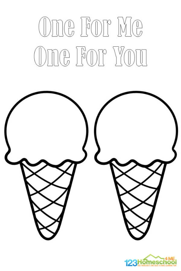 I Is For Ice Cream Coloring Pages Freebie