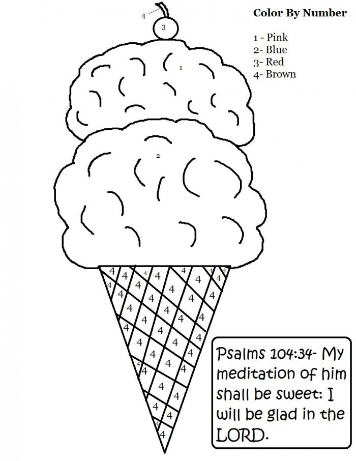 Ice Cream Cone Sunday School Lesson