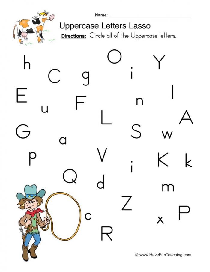 Identifying Uppercase Letters Worksheet Have Fun Teaching