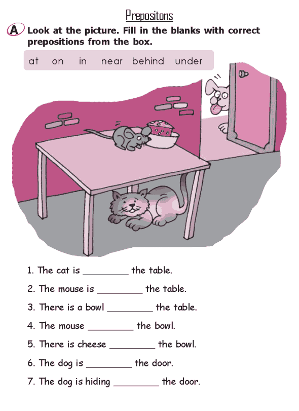Image Result For Preposition Worksheets For Class