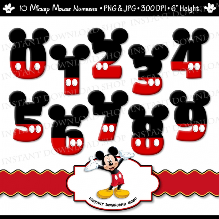 Instant Downlowd Mickey Mouse Numbers Mickey Mouse Digital