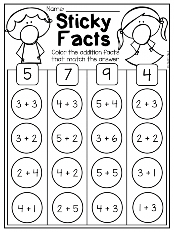 Kindergarten Addition And Subtraction Worksheets Up To