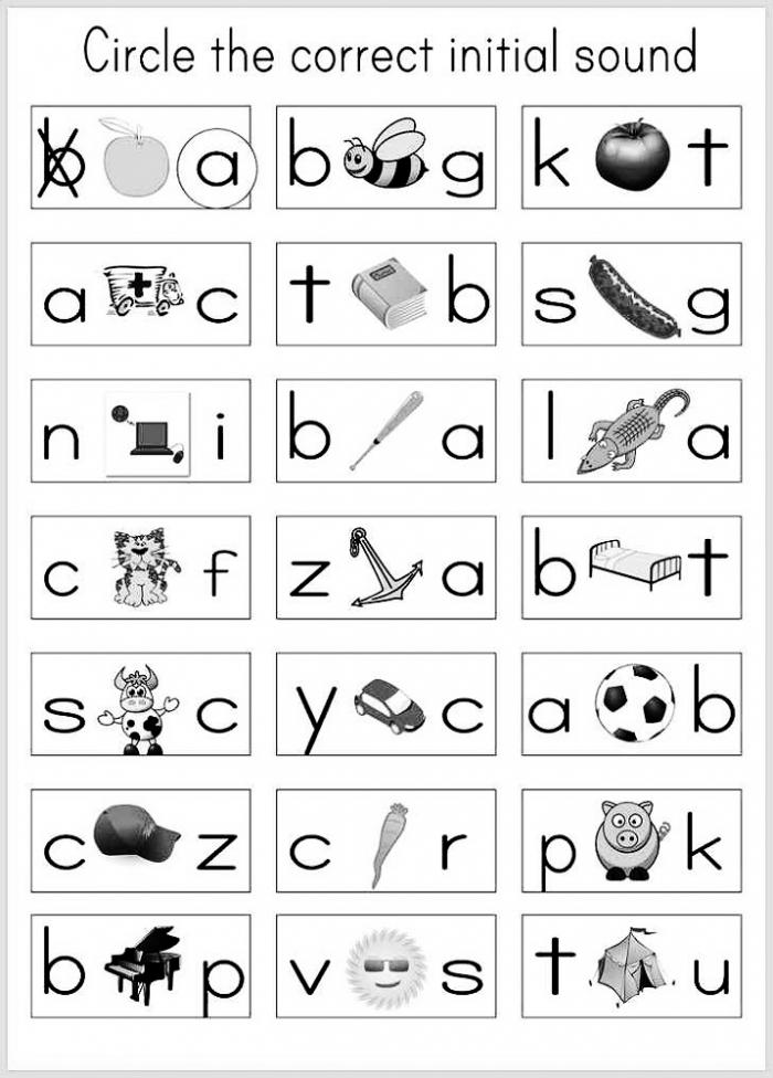 Kindergarten Alphabet Worksheets Printable Kids Worksheets