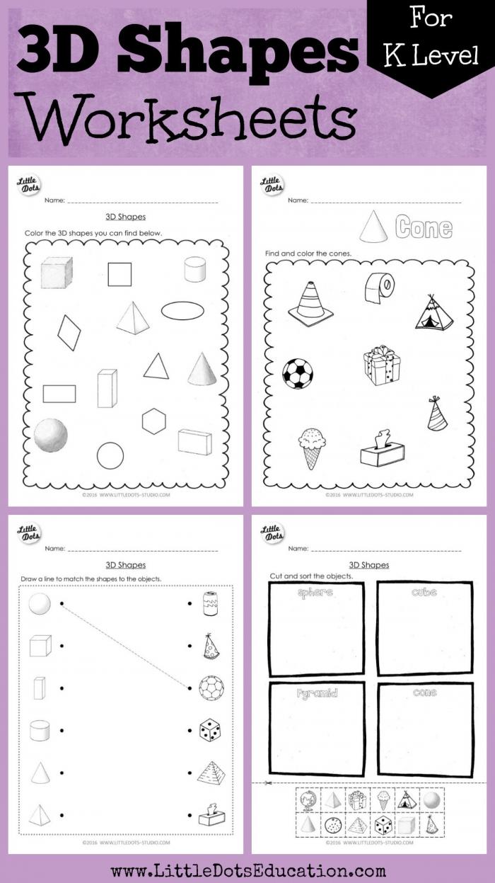 Kindergarten Math D Shapes Worksheets And Activities