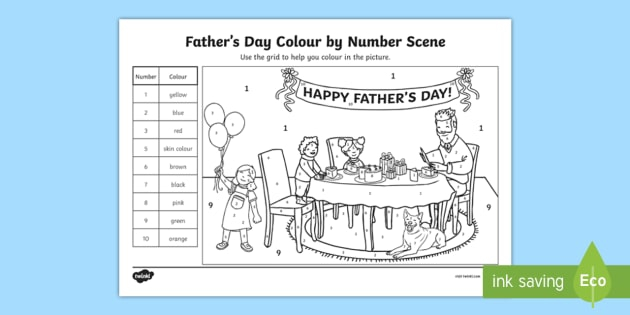 Ks Fathers Day Color By Number