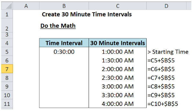 Learn How To Determine Time Intervals In Excel