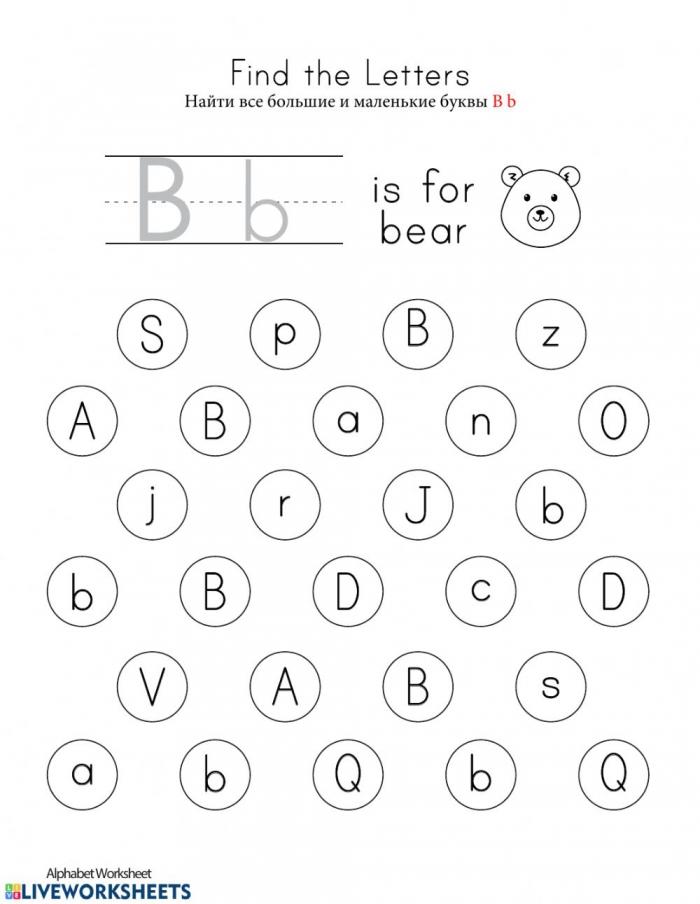 Letter B Interactive Worksheet