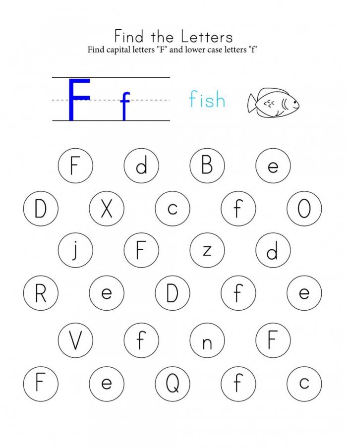 Letter F Interactive Worksheet
