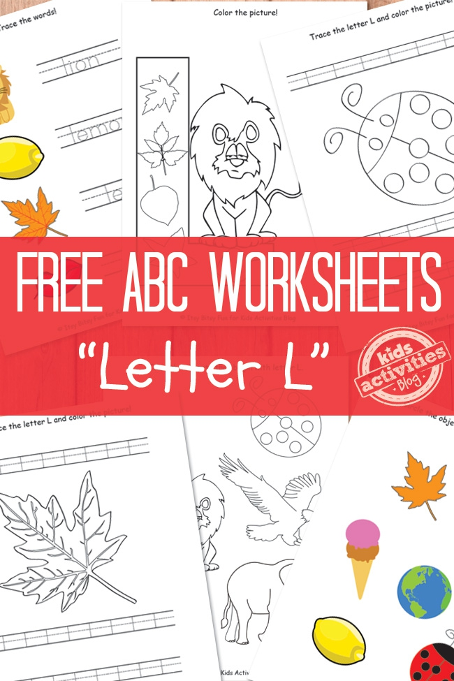 Letter L Worksheets Free Kids Printable