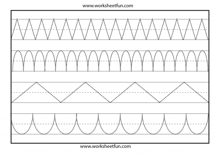 Traceable Lines Worksheets