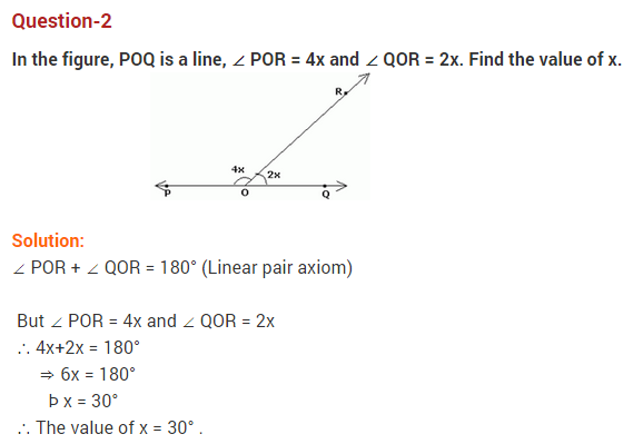 Lines And Angles Class Extra Questions Maths Chapter