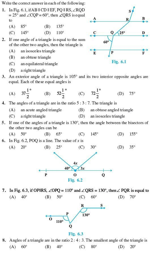 Lines And Angles Class Worksheet Pdf