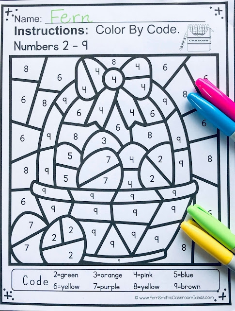 Looking For Some New Easter Color By Numbers For Your Classroom