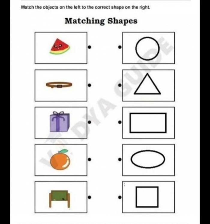 Matching Shapes Interactive Activity