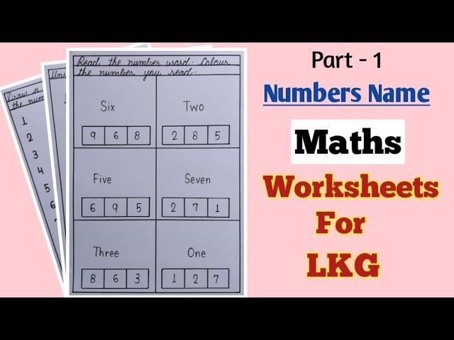 Maths Worksheets For Lkg