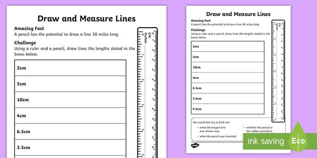 Measure A Line Worksheet Worksheet