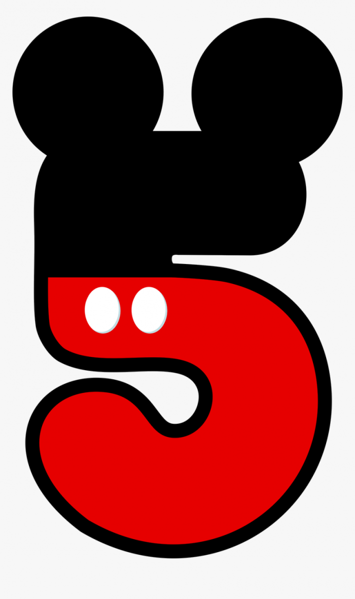 Mickey Mouse Numbers Clipart Hd Png Download Transparent Png