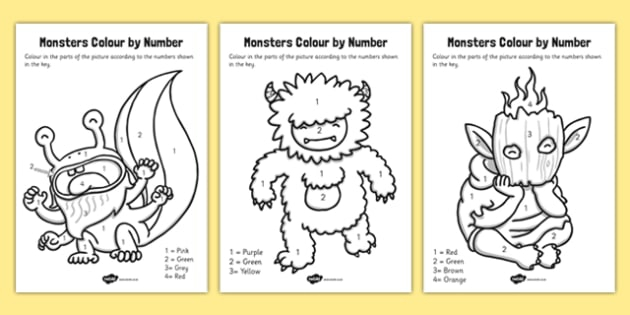 Monsters Color By Number