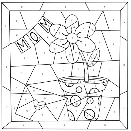 Mothers Day Color By Number Free Printable Coloring Pages