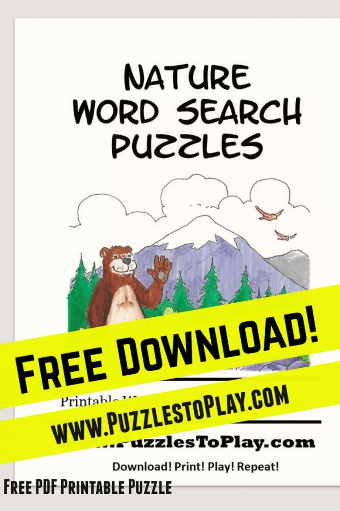 Nature Word Search Free Download Puzzle Book