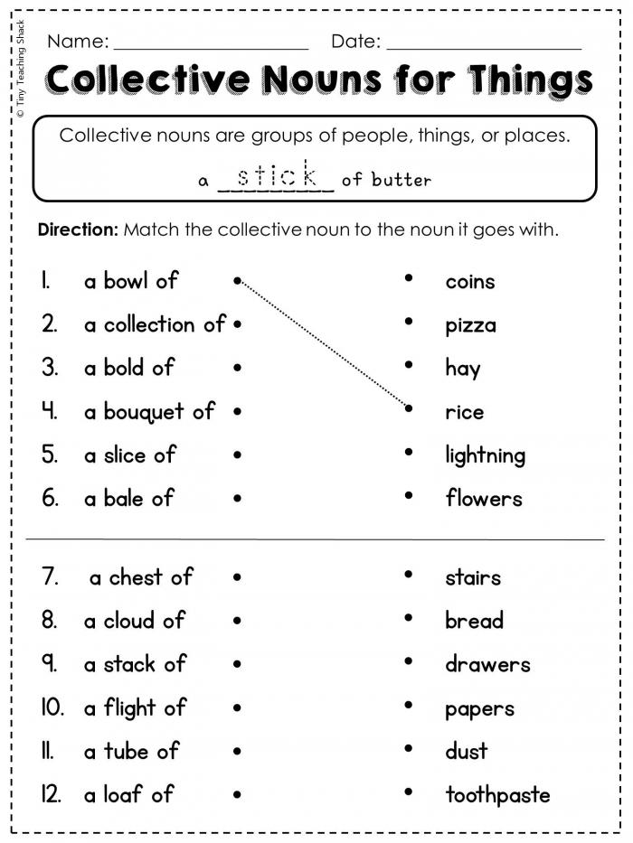 Nd Grade Language Arts And Grammar Practice Sheets Freebie
