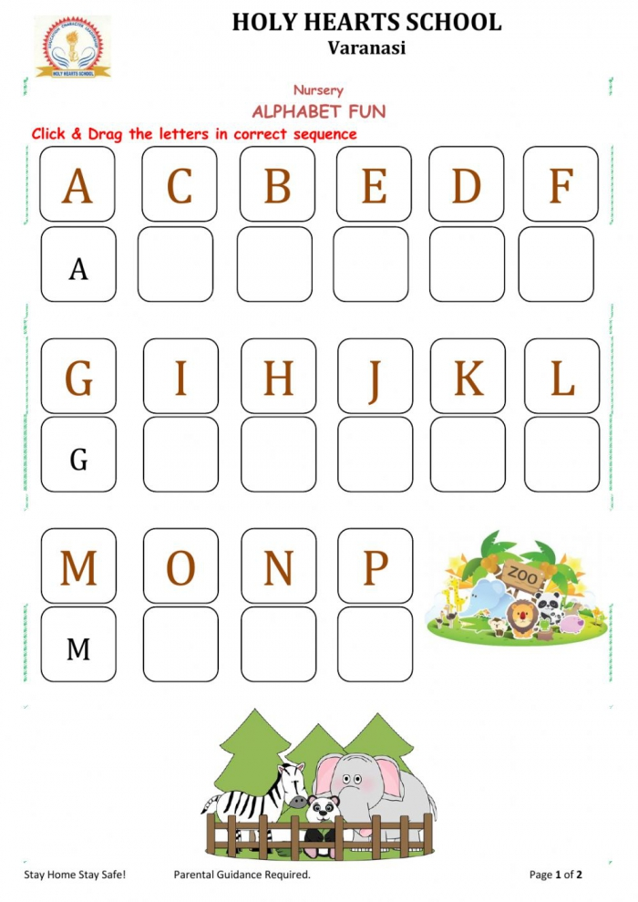 Nursery Alphabet Worksheet