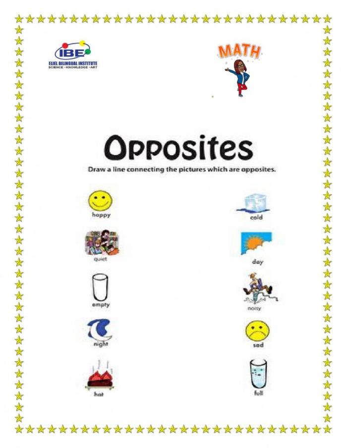 Opposites Online Exercise For Preschool