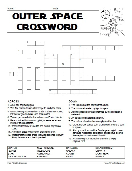 Outer Space Crossword