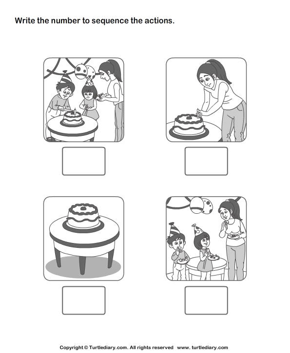 Picture Sequence Worksheet