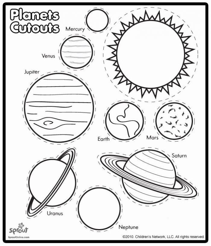 Planets Worksheet Preschool