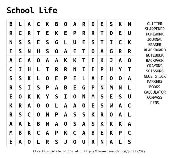 Play Word Search Puzzles On