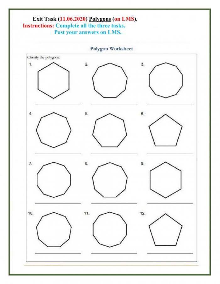 Polygon Interactive Worksheet