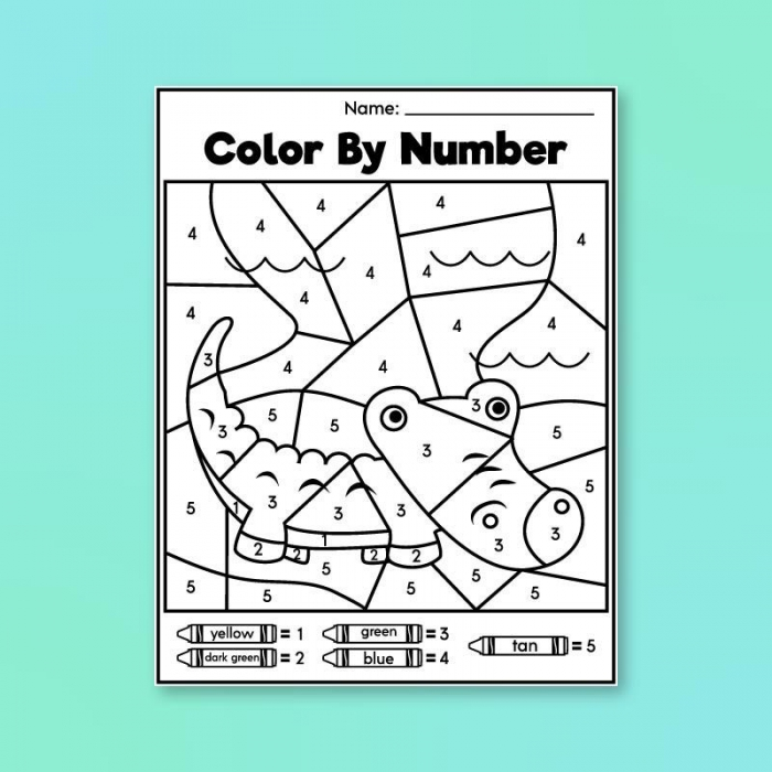 Pre K Color By Number Printables Simple Everyday Mom