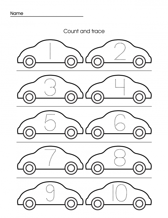 Preschool Tracing Worksheets Coloring Pages